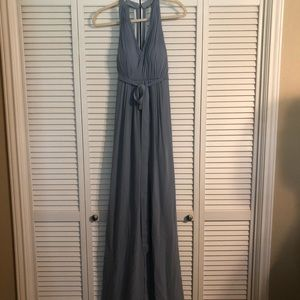 Dusty Blue Azazie Maternity Bridesmaid Dress